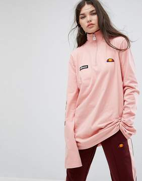 Ellesse Long Sleeve Top With High Half Zip Neck And Sleeve Logo