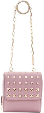 Valentino Pink Garavani Compact Wallet Chain Bag