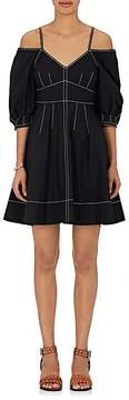 Derek Lam 10 Crosby Women's Cotton Poplin Off-The-Shoulder Dress