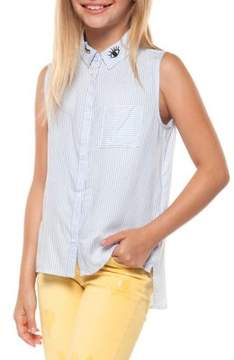 Dex Girl's Striped Sleeveless Top