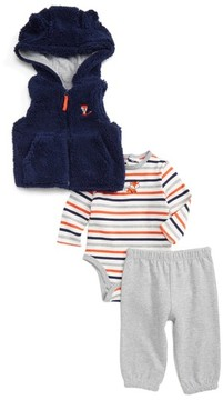 Little Me Infant Boy's Fox Vest, Bodysuit & Pants Set