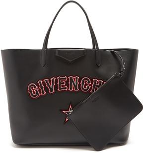 Givenchy Antigona logo and star-appliqué leather tote