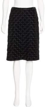 Andrew Gn Velvet Patterned Skirt