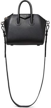 Givenchy Antigona Mini Textured-leather Shoulder Bag - Black