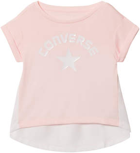 Converse Pink and White Branded Flyaway Tee