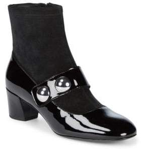 Marc Jacobs Margaux Patent Leather Booties