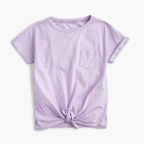 J.Crew Girls' tie-front T-shirt