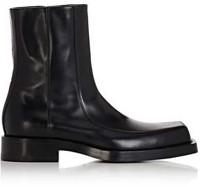 Balenciaga Men's Leather Apron-Toe Boots