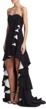 Badgley Mischka Odessa Hi-Lo Gown