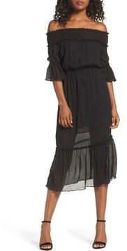 Chelsea28 Women's Off The Shoulder Midi Dress