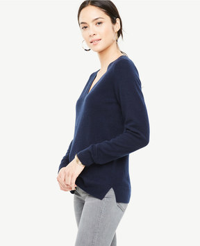 Ann Taylor Cashmere V-Neck Sweater