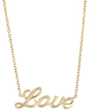 Bony Levy 14K Yellow Gold Love Pendant Necklace