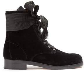 Chloé Harper lace-up velvet ankle boots