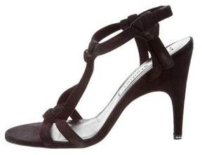 Acne Studios Suede T-Strap Sandals
