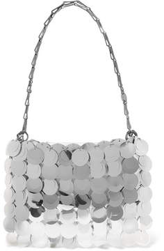 Paco Rabanne Sparkle 1969 Sequined Faux Leather Shoulder Bag - Silver