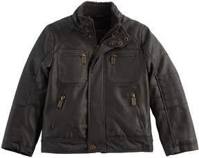 Urban Republic Boys 4-7 Faux Leather Moto Midweight Jacket