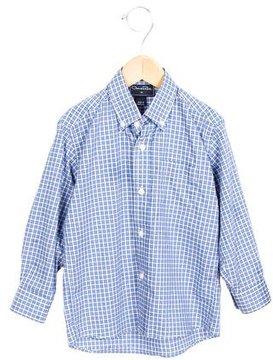 Oscar de la Renta Boys' Collared Plaid Shirt
