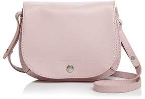 Longchamp Le Foulonne Small Leather Saddle Handbag - POWDER PINK/SILVER - STYLE