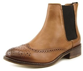 Dune London Quentin Women Round Toe Leather Tan Ankle Boot.