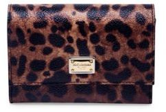 Dolce & Gabbana Leopard-Print Leather French Flap Wallet - LEOPARD - STYLE