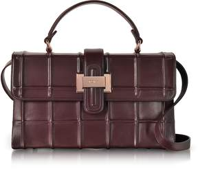 Rodo Burgundy Nappa Leather Lunch Bag