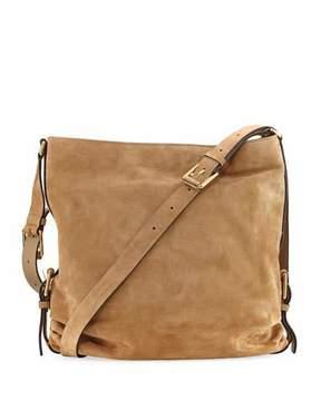Michael Kors Naomi Large Suede Shoulder Bag - CHINO - STYLE
