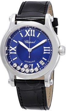 Chopard Happy Sport Automatic Blue Diamond Dial Ladies Watch