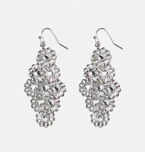 Avenue Stone Flower Chandelier Earrings