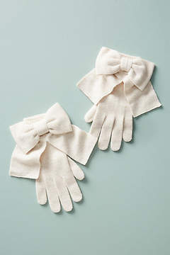 Anthropologie Bow-Tied Gloves