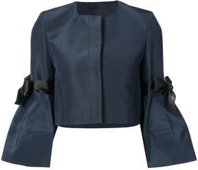 Carolina Herrera bow detailed faille bell sleeve jacket