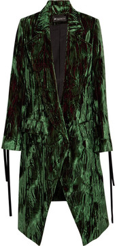 Ann Demeulemeester Crushed-velvet Coat - Green