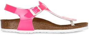 Birkenstock Kairo Pink-Neon Faux Leather Sandals
