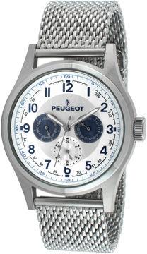 Peugeot Mens Stainless Steel Mesh Watch 1049S