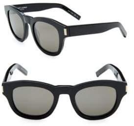 Saint Laurent 49MM Round Sunglasses