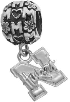 Dayna U Sterling Silver Nebraska Cornhuskers Team Logo Mom Charm