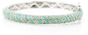 Swarovski Green Stripe Bangle With Crystals