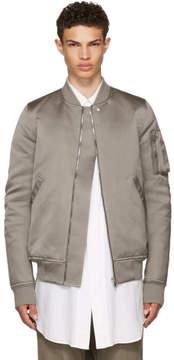 Rick Owens Grey Down Flight Bomber Jacket