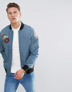 Hollister Space Bomber in Silver Blue