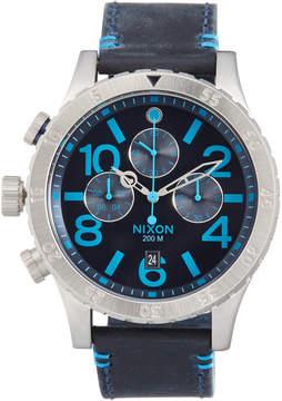 Nixon Men's 48-20 Chrono Leathe Watch