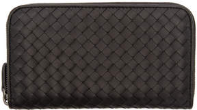Bottega Veneta Black Intrecciato Continental Wallet