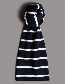 Marks and Spencer Pure Cashmere Striped Scarf