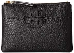 Tory Burch McGraw Card Pouch Wallet - BLACK - STYLE