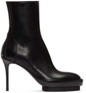 Ann Demeulemeester Black Platform Ankle Boots