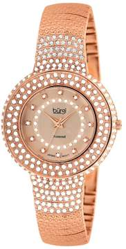 Burgi Diamond Accent And Crystal Fashion Ladies Watch