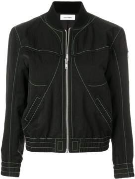 Courreges stitch detail bomber jacket