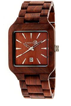 Earth Wood Arapaho Red Bracelet Watch with Date ETHEW3603