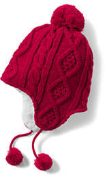 Lands' End Girls Holiday Texture Knit Peruvian-Fun Fairisle