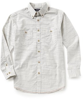 Roundtree & Yorke Casuals Long-Sleeve Horizontal Textured 2 Pocket Sportshirt
