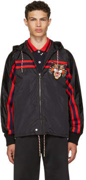 Gucci Black Angry Cat Windbreaker Jacket