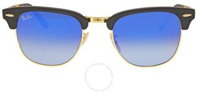 Ray-Ban Clubmaster Folding Blue Gradient Flash Sunglasses